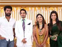 Prabhu Deva attends Siddiq daughter's marriage with Nayanthara