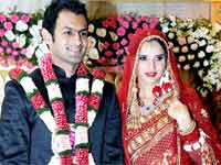 Shoiab Malik and Sania Mirza