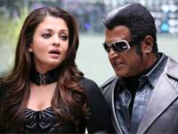 Aishwarya Rai and Rajinikanth