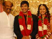 Rajini at Actor Vishnu Marriage
