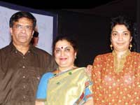 Y Gee Mahendra, with Wife and Daughter