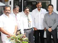 Kamal Hassan presents ambulance to Napoleon's Mayopathi hospital