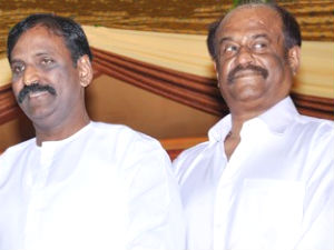 Vairamuthu and Rajinikanth