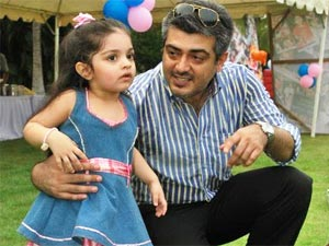 Ajith with daughter Anoushka