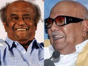 Rajinikanth and Karunanidhi