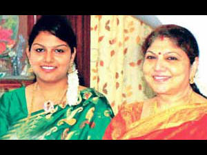 Y Vijaya with her Daughter