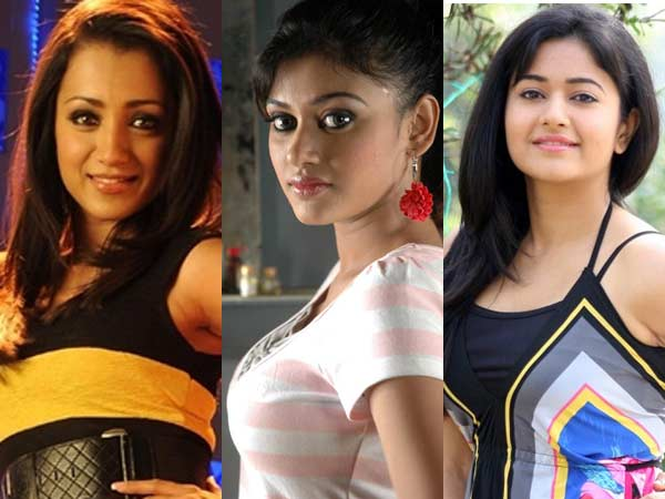 Trisha, Oviya and Poonam bajwa