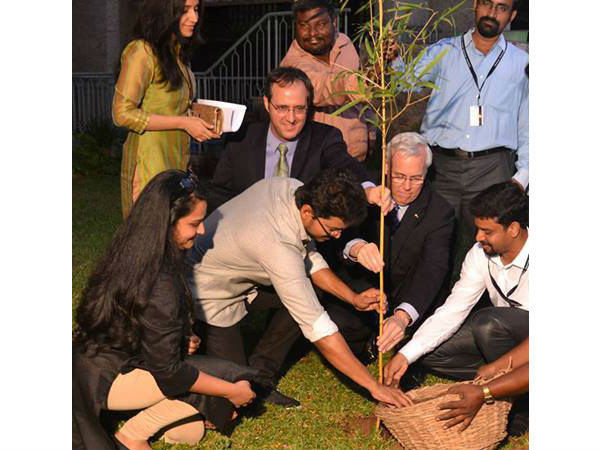 Vijay plants sapling on World Environment day