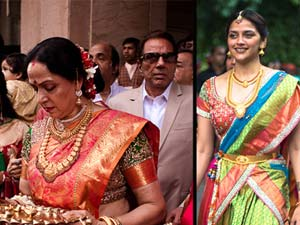 Hemamalini's Younger Daughter engagement on Mumbai