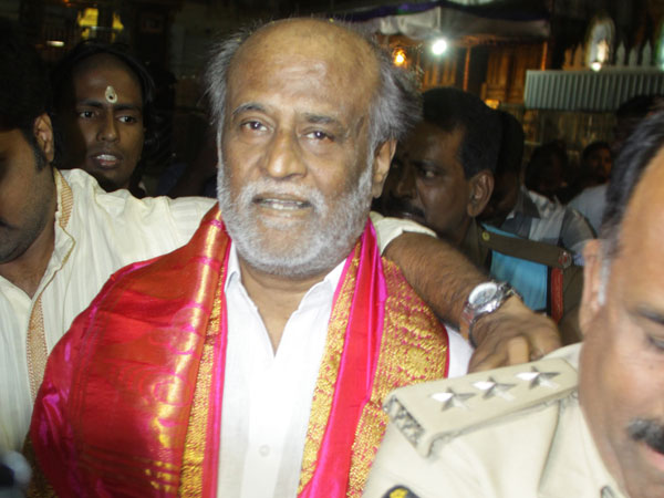Superstar Rajinikanth in Tirupati