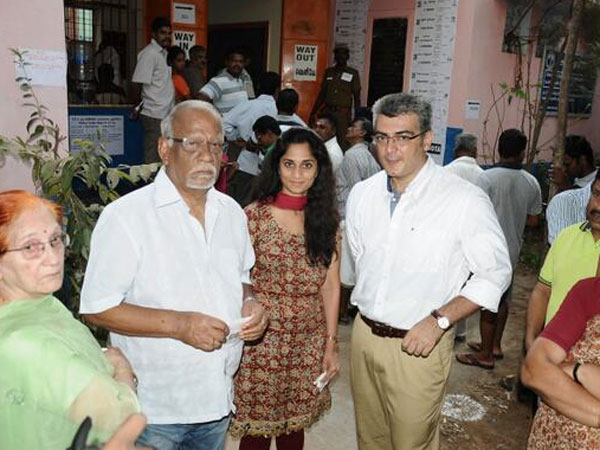 Mr. and Mrs. Ajith cast vote