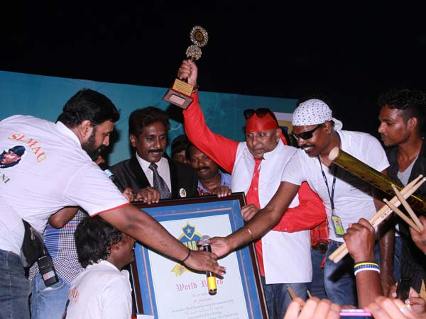 Drums Sivamani's Guinness record