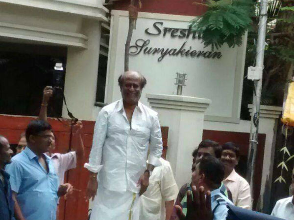 Rajini meets his fans on New Year Day