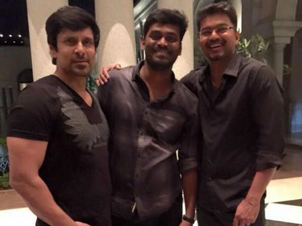 Vijay, Vikram and Shankar attend I success bash