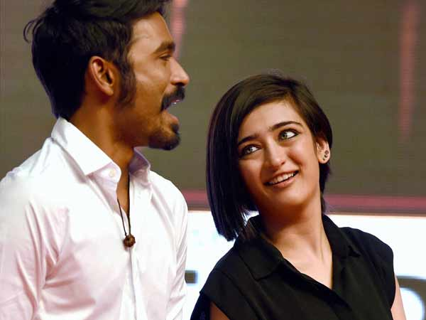 Dhanush had no advice for Akshara Haasan