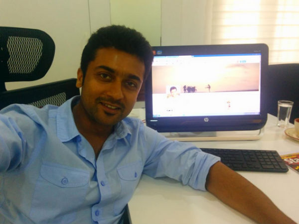 Guess who is followed by Suriya