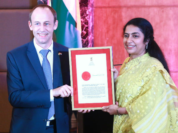 Suhasini is now become the ambassador of Luxembourg
