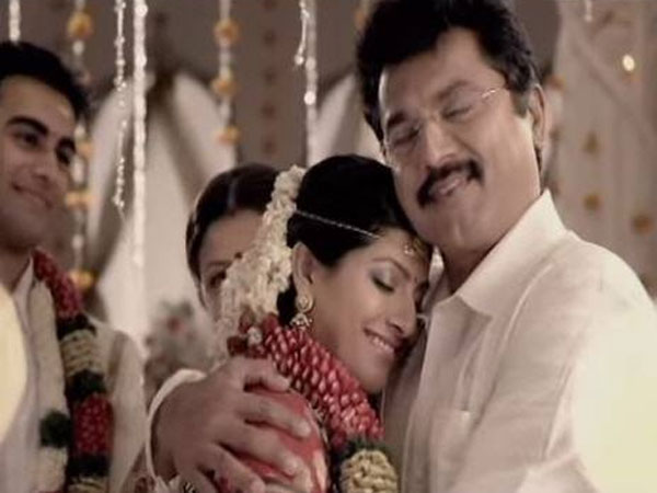 Sarathkumar and daughter Varalakshmi advertisement