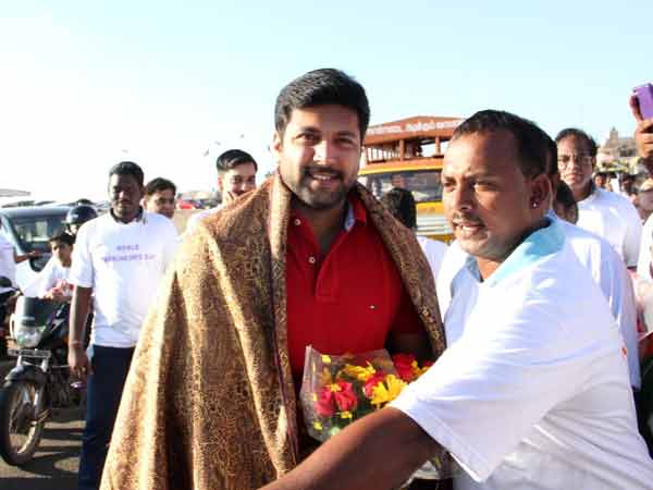 Jayam Ravi attends Parkinsons disease awareness walk