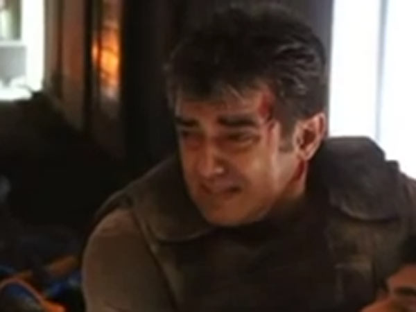 Ajith injured during a fight scene