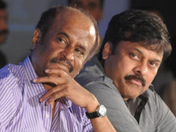 Rajini at Chiranjeevi birthday