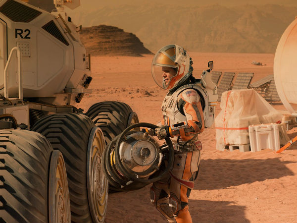 The Martian on an isolated man in the red planet
