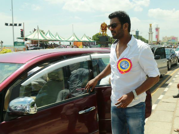 Why are you afraid of contesting in polls, asks Vishal team