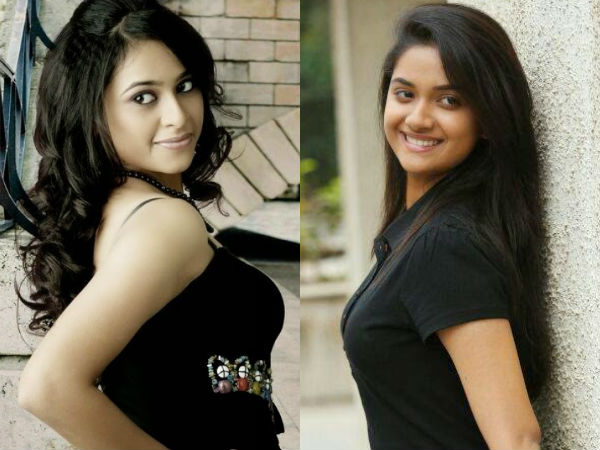 Sridivya - Keerthi Suresh Heavy Competition Being Glamorous