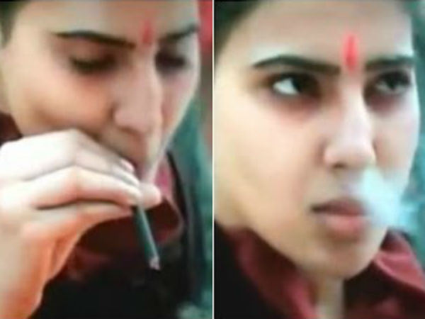 Samantha gets condemnation for appearing in smoking scene