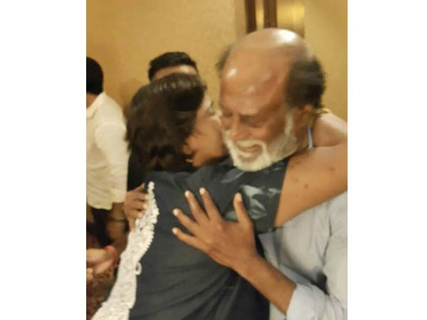 Rajini fulfills a heart patient's long time wish