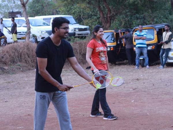 Actor Vijay and Director Atlee Plays Badminton