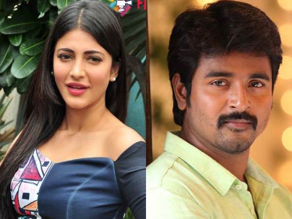 Shruti to pair up with Sivakarthikeyan