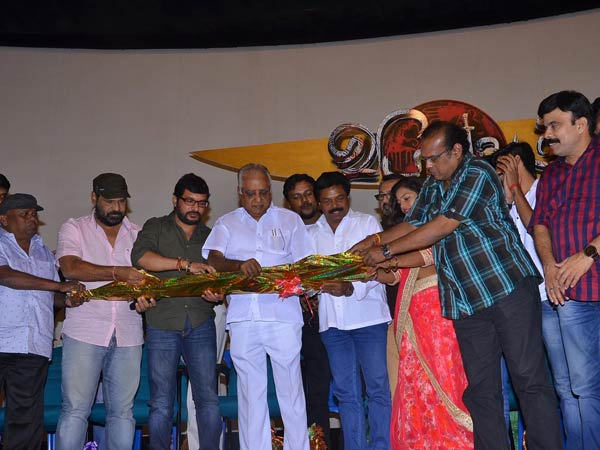 Real snake at Vidayutham audio launch stage