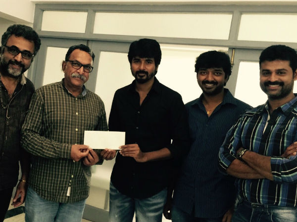 Sivakarthikeyan donates Rs 5 lakh to flood relief
