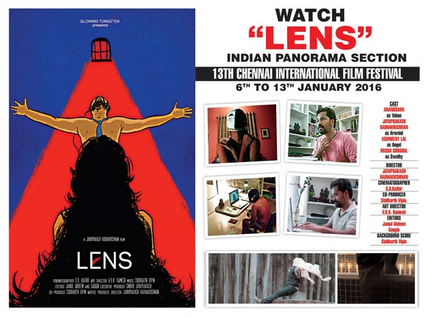 LENS movie selected for 13th Chennai International Festival
