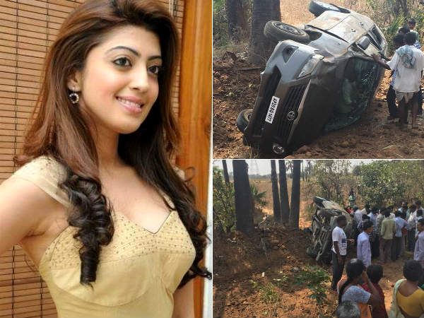 Pranitha Wounded in Road Accident