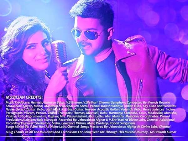7 Tracks in Vijay's Theri