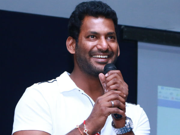 Vishal helps Rs 1.50 lakh to a junior artist's wife
