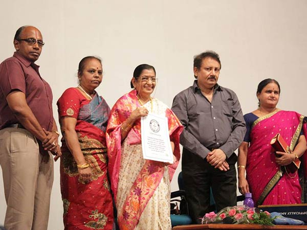 P Suseela speaks on his Guinness record