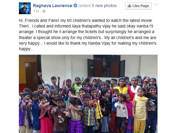 Vijay Arranged Theri Special Show for 60 Children's