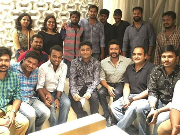 AR Rahman, Surya celebrate 24 success