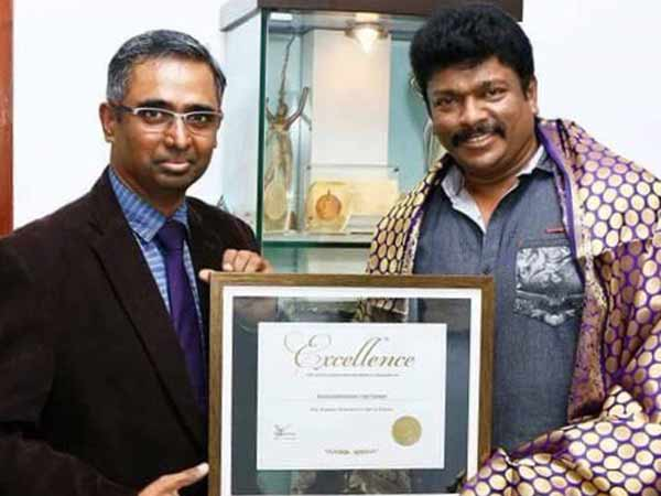 Distinguished director award New York for Parthiban