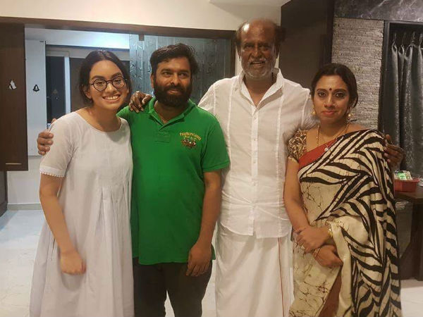 Santhosh Narayanan gets blessings of Rajinikanth