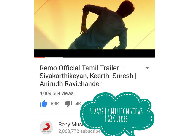 Remo trailer gets 4 million viwes in four days