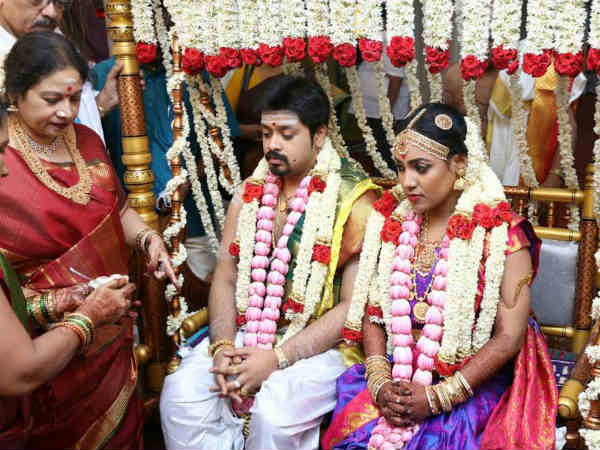 Actress Jayachitra's son marries Keerthi Hanuha