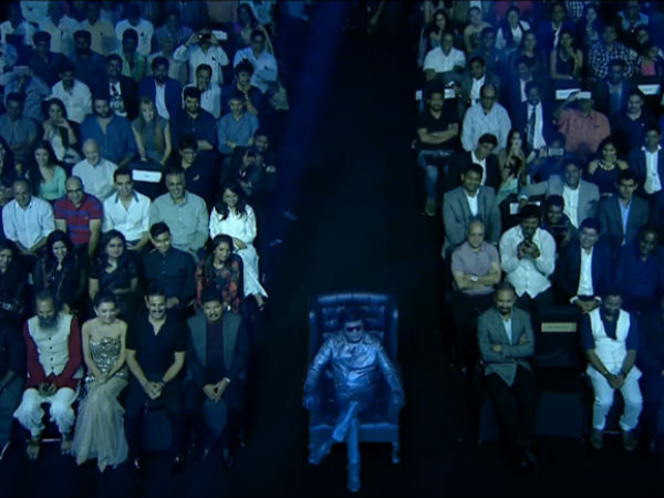 Rajini appears with the famous Chitti at 2.0 first look launch