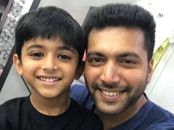 Jayam Ravi's son to act with him in Tik Tik Tik