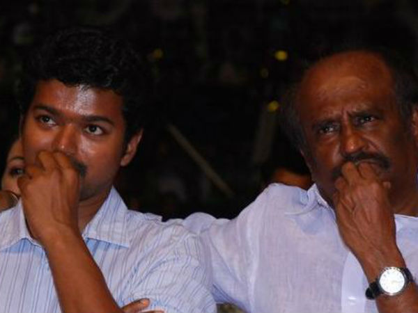 Vijay meets Superstar Rajini