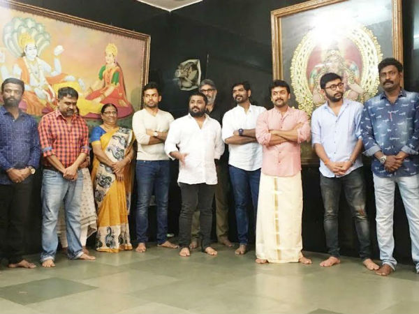 Surya's next movie starts with pooja