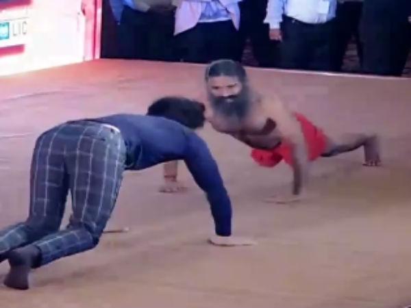 பாபா ராம்தேவுடன் மோதி மண்ணைக் கவ்விய நடிகர் ரன்வீர் சிங்